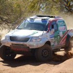 Anthony Taylor and Dennis Murphy, in a works Toyota Hilux, won the 2013 Kalahari 1000 Desert Race by eight and a half minutes