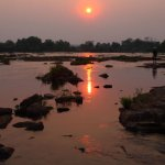 Sunrise over the Zambezi River