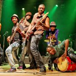 Zimbabwe's Afro-fusion band Mokoomba play the Edmonton Folk Music Festival as part of their first-ever tour of North America. Photograph by: Milena Strange , Supplied