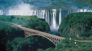 Victoria Falls and Bridge