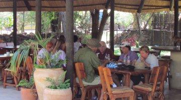 Tourists at Rainforest Restaurant