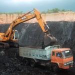 Open cast coal mining