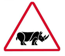 Proposed Rhino road sign
