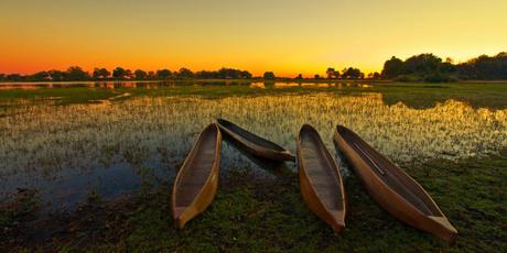 Sunrise Over the Okavango Delta