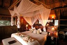 A room at Kwetsani Camp in the Moremi Game Reserve