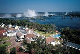 Royal Livingstone Hotel on the bank on the Zambezi River above Victoria Falls