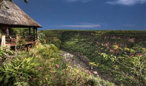 Living on the edge, Gorges Lodge is built on the edge of the Zambezi River Gorge