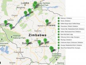 HAC routes within Zimbabwe