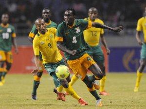 Football - 2013 Cosafa Cup - Semi Finals - South Africa v Zambia - Levy Mwanawasa Stadium - Zambia