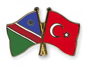 Namibia and Turkey flags