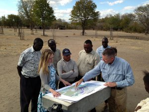 On Friday, August 2, Chelsea Clinton met with African Wildlife Foundation (AWF) CEO Patrick Bergin and AWF staff members in Zambia.