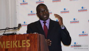 Econet Chief Executive, Douglas Mboweni, at the announcement of the 4G LTE services yesterday morning