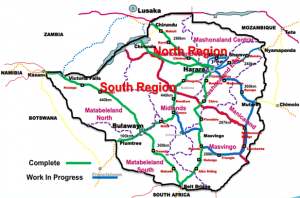 Fibre optic cables that are currently being laid down throughout Zimbabwe
