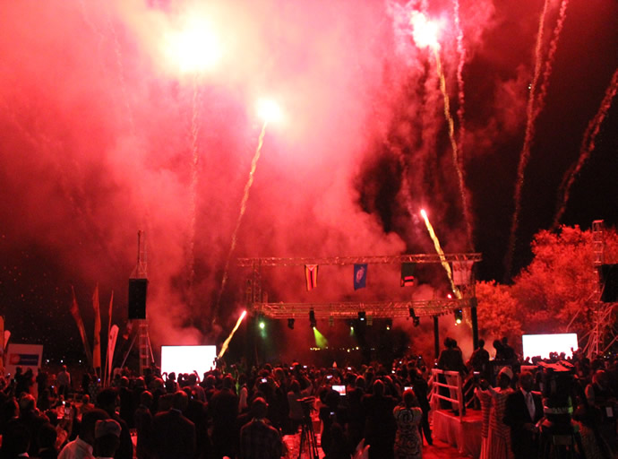 Fire works at the UNWTO 20th General Assembly official launch at Victoria Falls Hotel