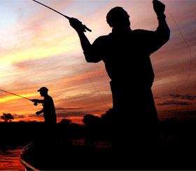 Fly fishing from a mokoro