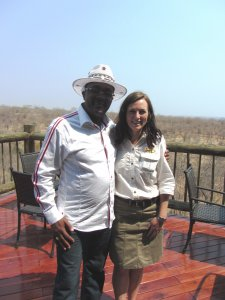 HONORABLE ENG. WALTER MZEMBI & OUR CLUB MANAGER, CLAIRE WRIGHT