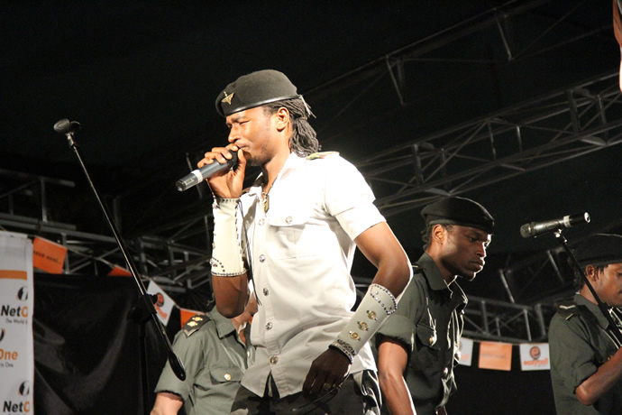Jahprayzah peforming during the UNWTO tourism night musical gala at Victoria Falls Primary School