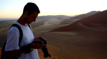 Journalist in the Namib Desert