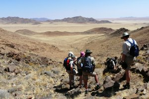Journalists in the Namib Desert