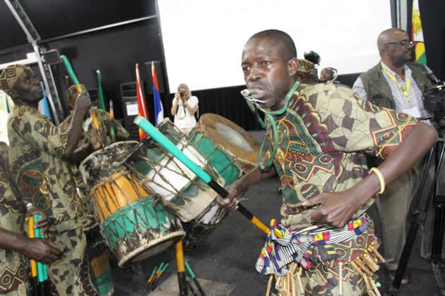 Kaletsa dance group perform in Livingstone Zambia