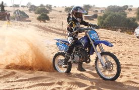 Motorbike at the Khawa Dune Challenge 2013