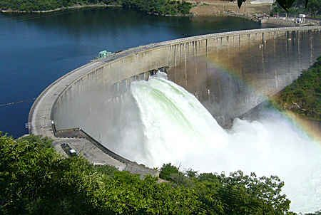 Lake Kariba Dam Wall