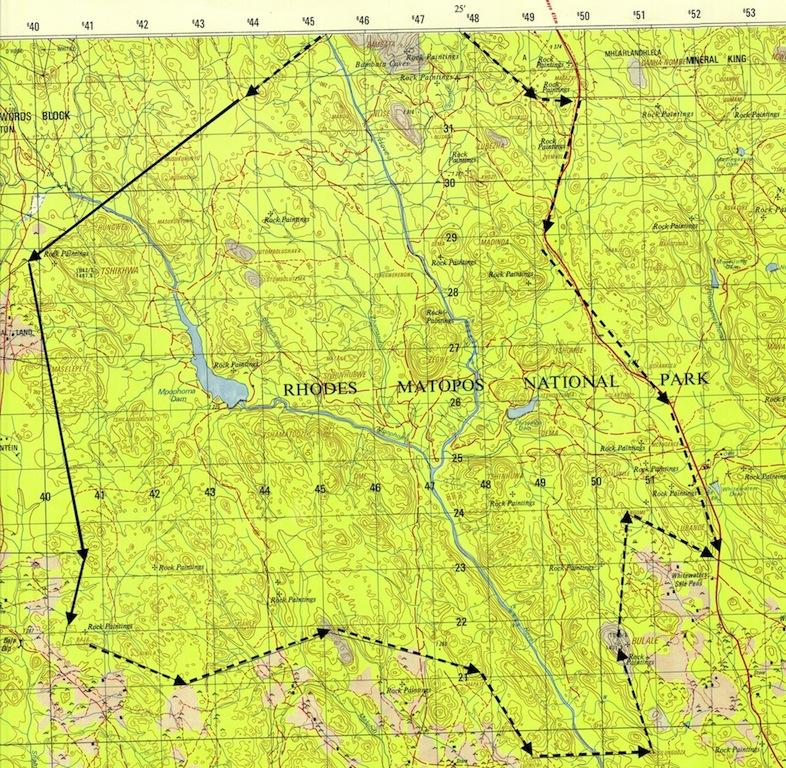 Matopos Map