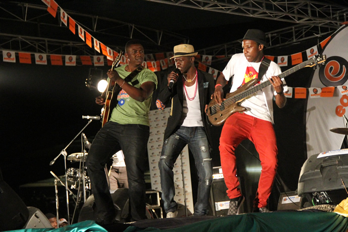 Mokoomba performs during the UNWTO tourism night musical gala at Victoria Falls Primary School