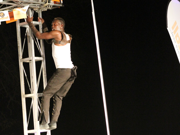 One of Slizer's dancers during the gala