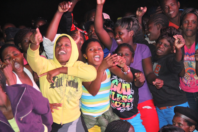 Part of the crowd that attended UNWTO tourism night musical gala at Victoria Falls Primary School yesterday