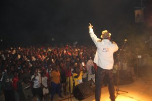 Proflight Zambia brand ambassador Cactus Agony performs at the UNWTO opening celebrations in Livingstone