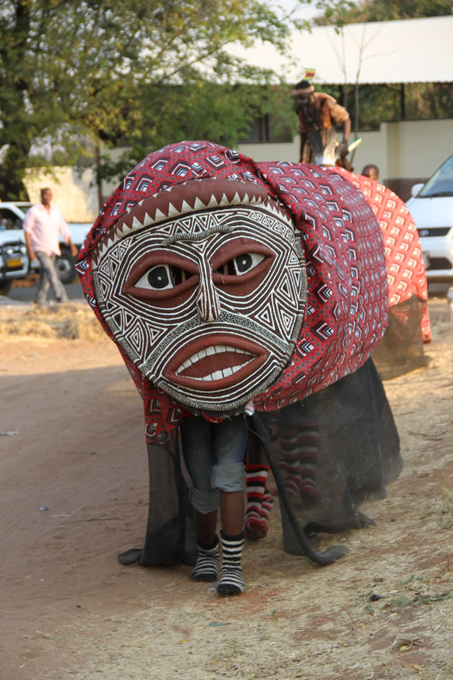 Some of the faces that were part of the Victoria Falls street carnival 1
