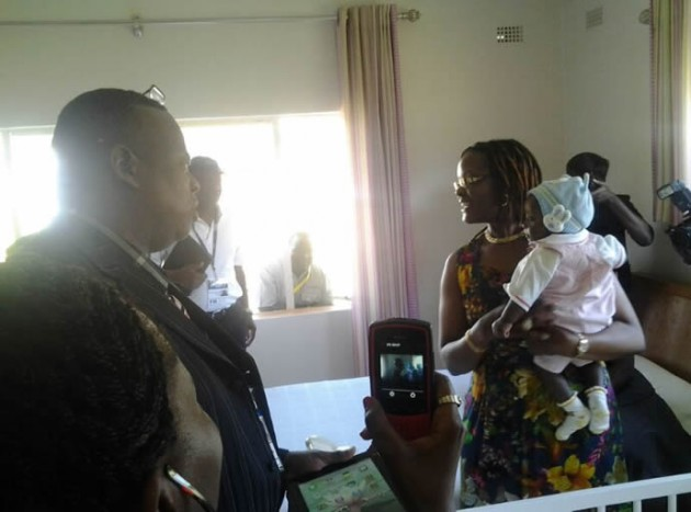 The First Lady and one of the babies at the orphanage…she knows them all by name
