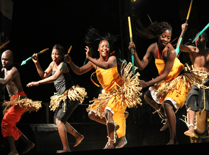 Traditional dances during the official closing in Livingstone