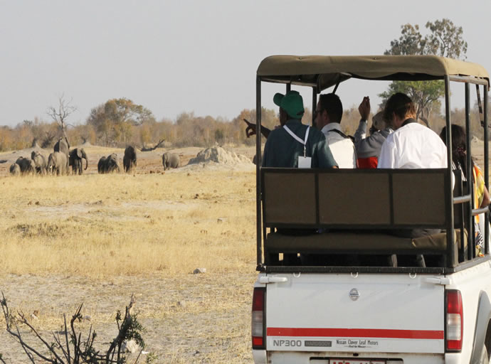 UNWTO delegates during a game drive at Hwange National Park