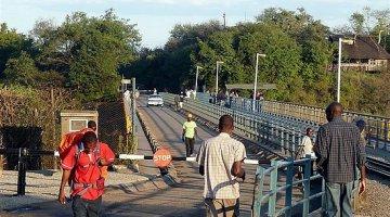 Victoria Falls Border Post which crosses over the Vic Falls Bridge