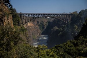 Victoria Falls Bridge which is the crossing between Zambia and Zimbabwe