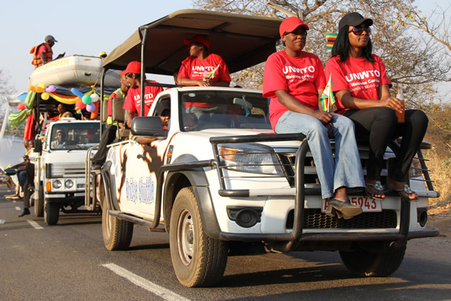 Street carnival pictures along Livinstone way in Victoria Falls