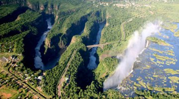 Batoka Gorge just below the Victoria Falls
