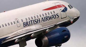 British Airways takes off from Kenneth Kaunda International Airport