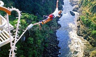 Bungee jumping off Victoria Falls Bridge