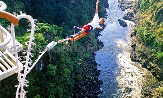 Bungee jumping off Victoria Falls Bridge