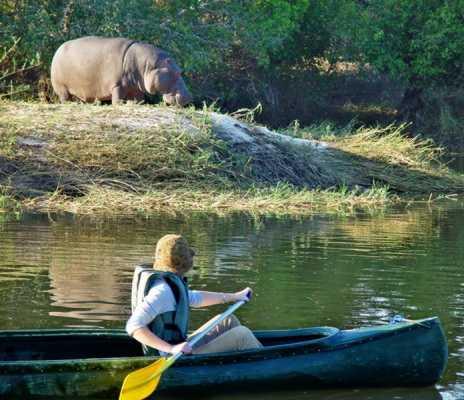 Canoeing at Sindabezi