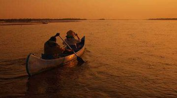 Canoeing on the Kafue River in Zambia