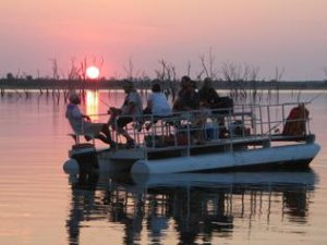 Fishing in the last moments of daylight on Lake Kariba.