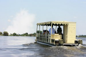 Cruising towards to edge of the Victoria Falls will give you an adrenaline rush
