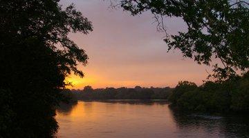 Kafue River in Zambia