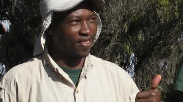 Newly graduated field guide in Namibia