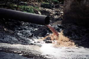 Polluted chemicals flow into the Kafue River