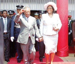 President Sata at the opening of the 11th National Assembly